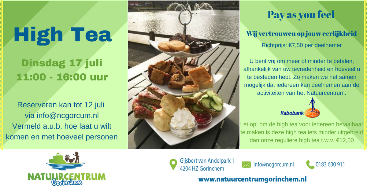 High Tea - Natuurcentrum Gorinchem