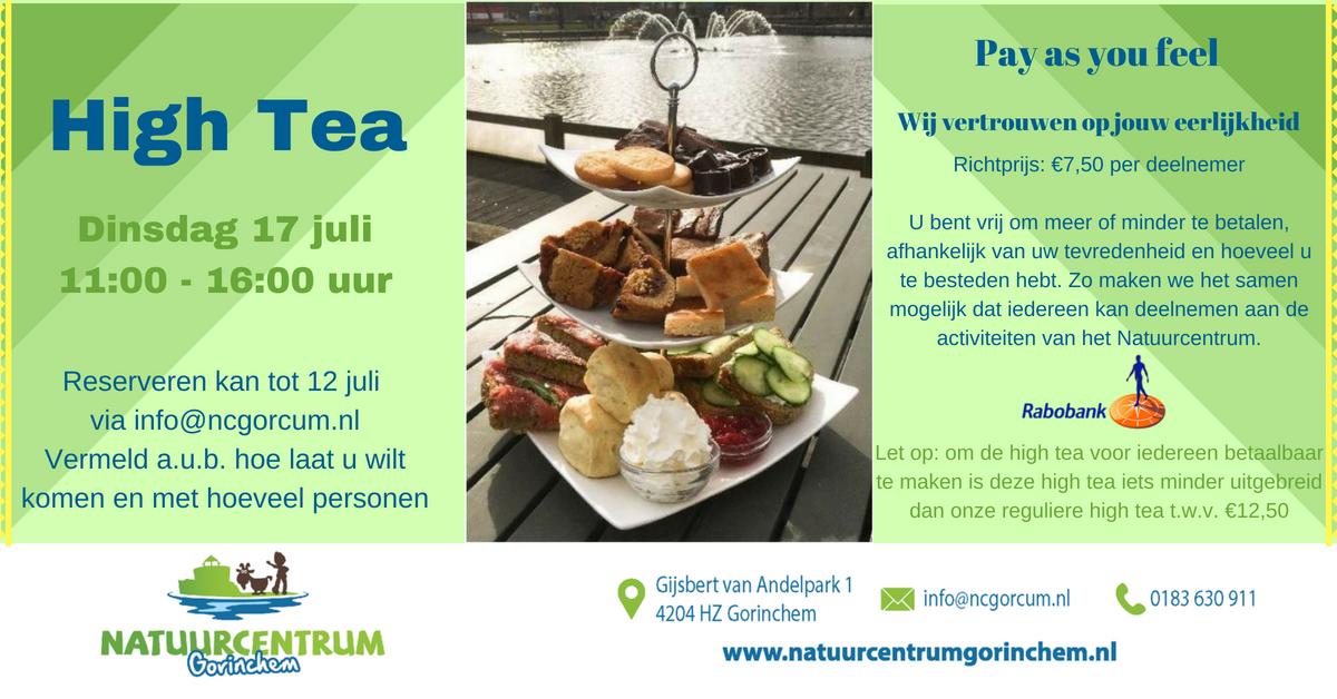 High Tea – Natuurcentrum Gorinchem