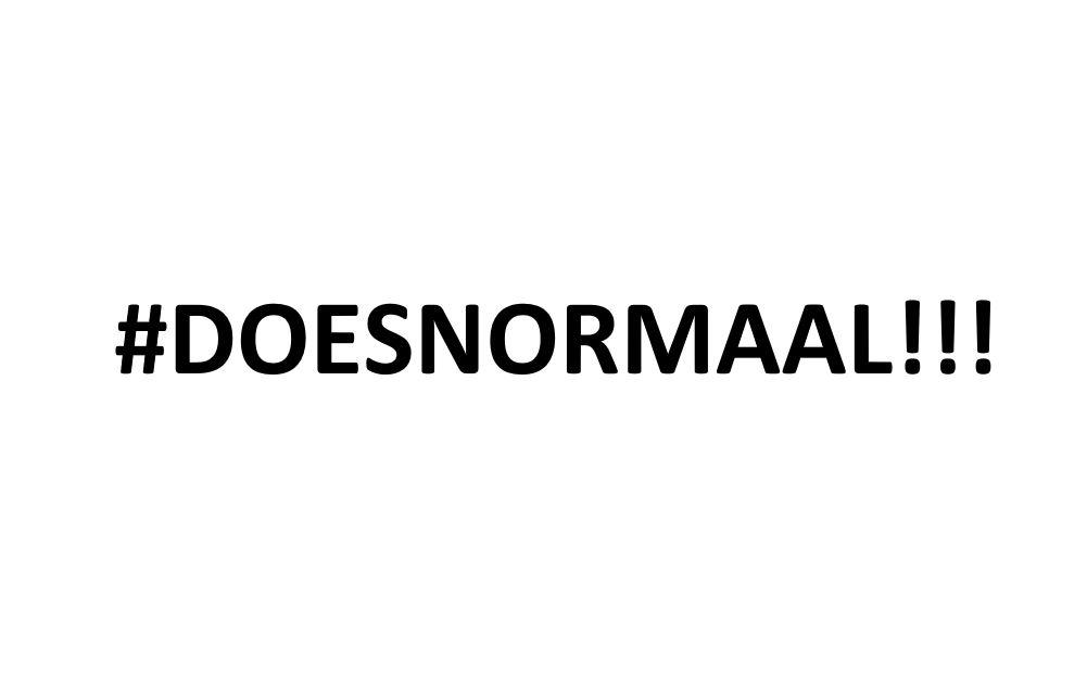 #doesnormaal