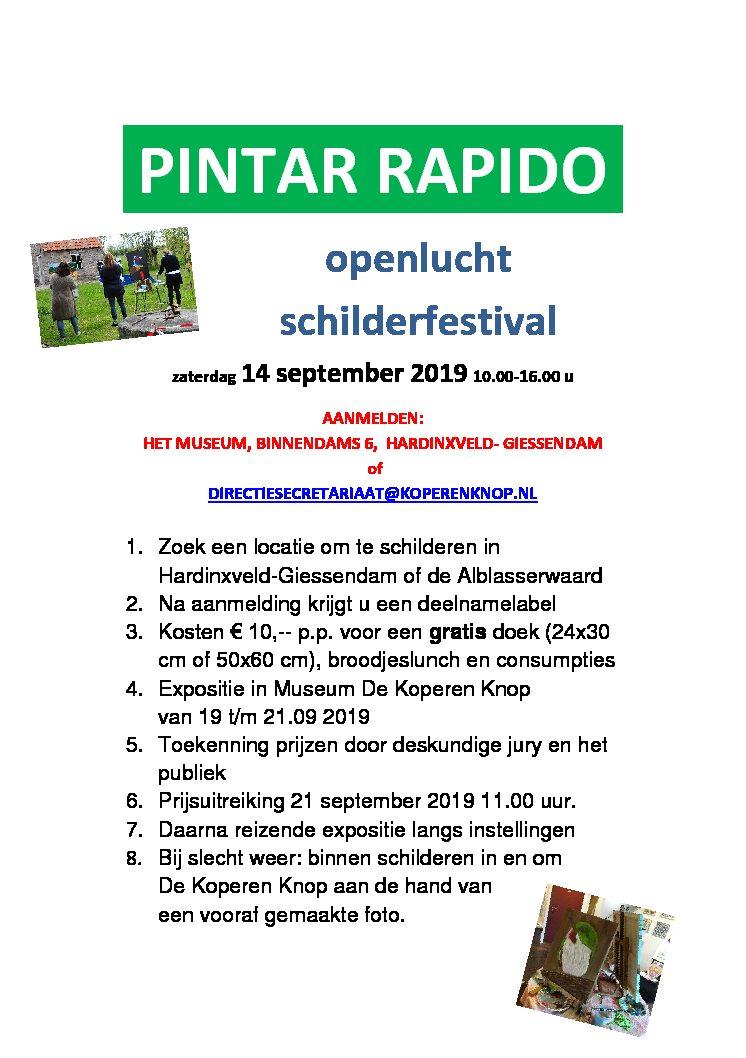 Pintar Rapido openlucht schilderfestival bij de Koperen Knop