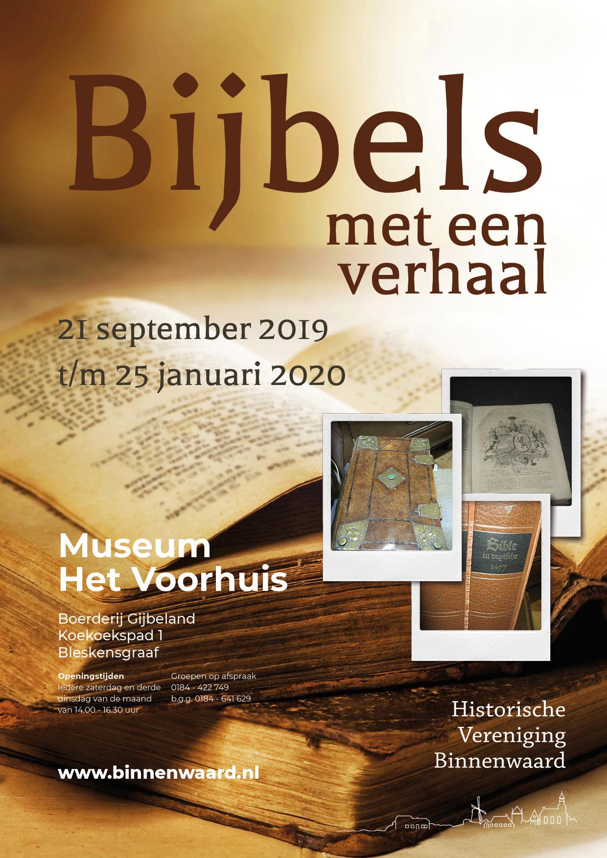 Expositie: Bijbels Met Een Verhaal In Museum Het Voorhuis