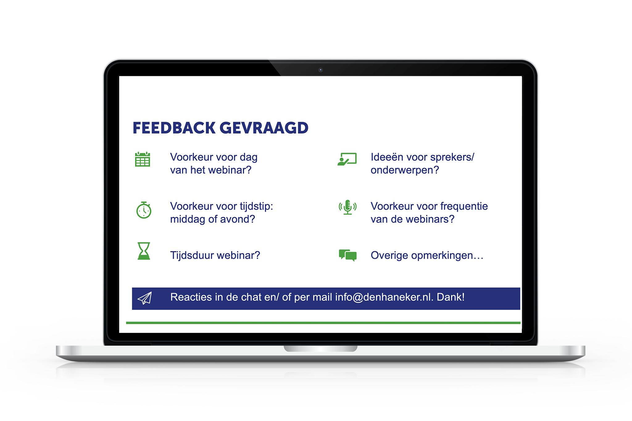 Evaluatie Webinars